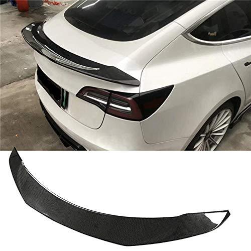 YUNJINGCHENMAN Kits de parachoques para carrocería de coche Tesla Modelo 3 2015-2019 parachoques delantero difusor trasero spoilters faldas laterales Kits de fibra de carbono (color : alerón trasero)