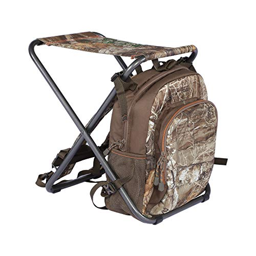 TIMBER RIDGE 3 in 1 Cooler Backpack Foldable Fishing Chair with Cooler Bag, Compact Lightweight and Portable for Outdoor, Camping, Hiking(CAMO)