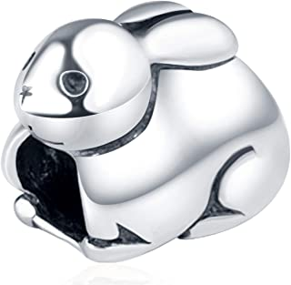 Choruslove 925 Sterling Silver Rabbit Charms Pig Charms fit European Women Bracelet, Idea Gifts for Animal Lover/Mom/Kids/...