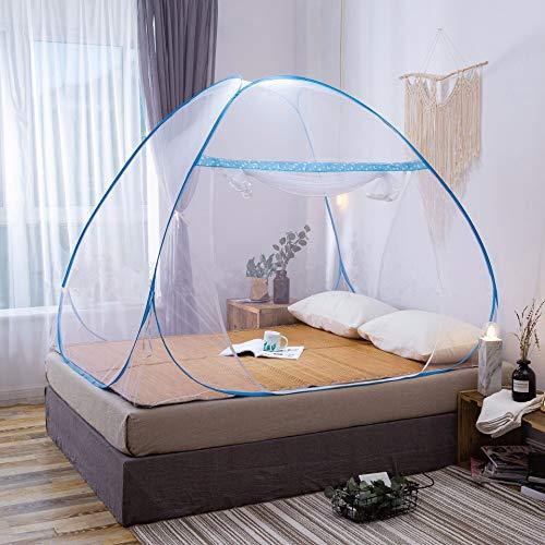 Muggennetten, pop-up yurt klamboes voor eenpersoonsbed, geschikt voor op Slaapkamer, Huishoudelijke, Reis, Kamperen (100x190)