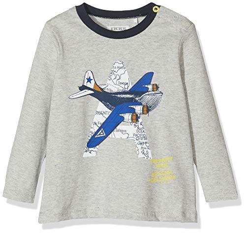 IKKS Junior tee Shirt Ml Avion Camiseta, Gris (Gris Chine Moyen 24), 3-6 Meses (Talla del Fabricante: 3M) para Bebés