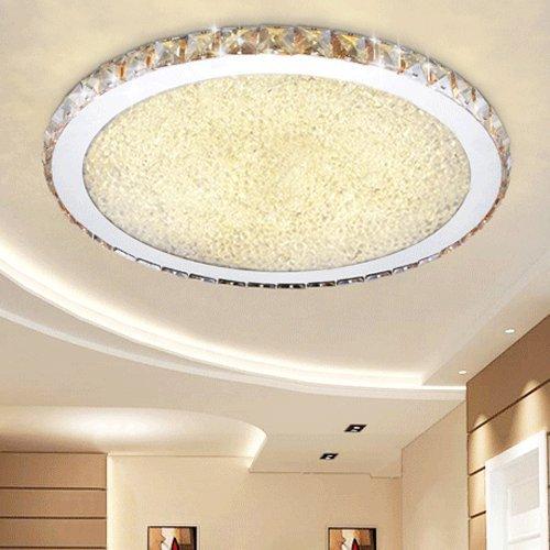 ETiME 48W Deckenleuchte Kristall LED Ø52cm Deckenlampe Rund Warmweiß Wohnzimmer Schlafzimmer Esszimmer Lampe (48W Ø52cm Warmweiß)