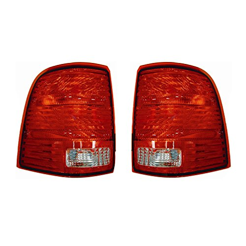 Rareelectrical NEW TAIL LIGHT PAIR COMPATIBLE WITH FORD EXPLORER 2002-2005 1L2Z13404AA 1L2Z-13404-AA FO2800159 1L2Z13405AA 1L2Z-13405-AA FO2801159