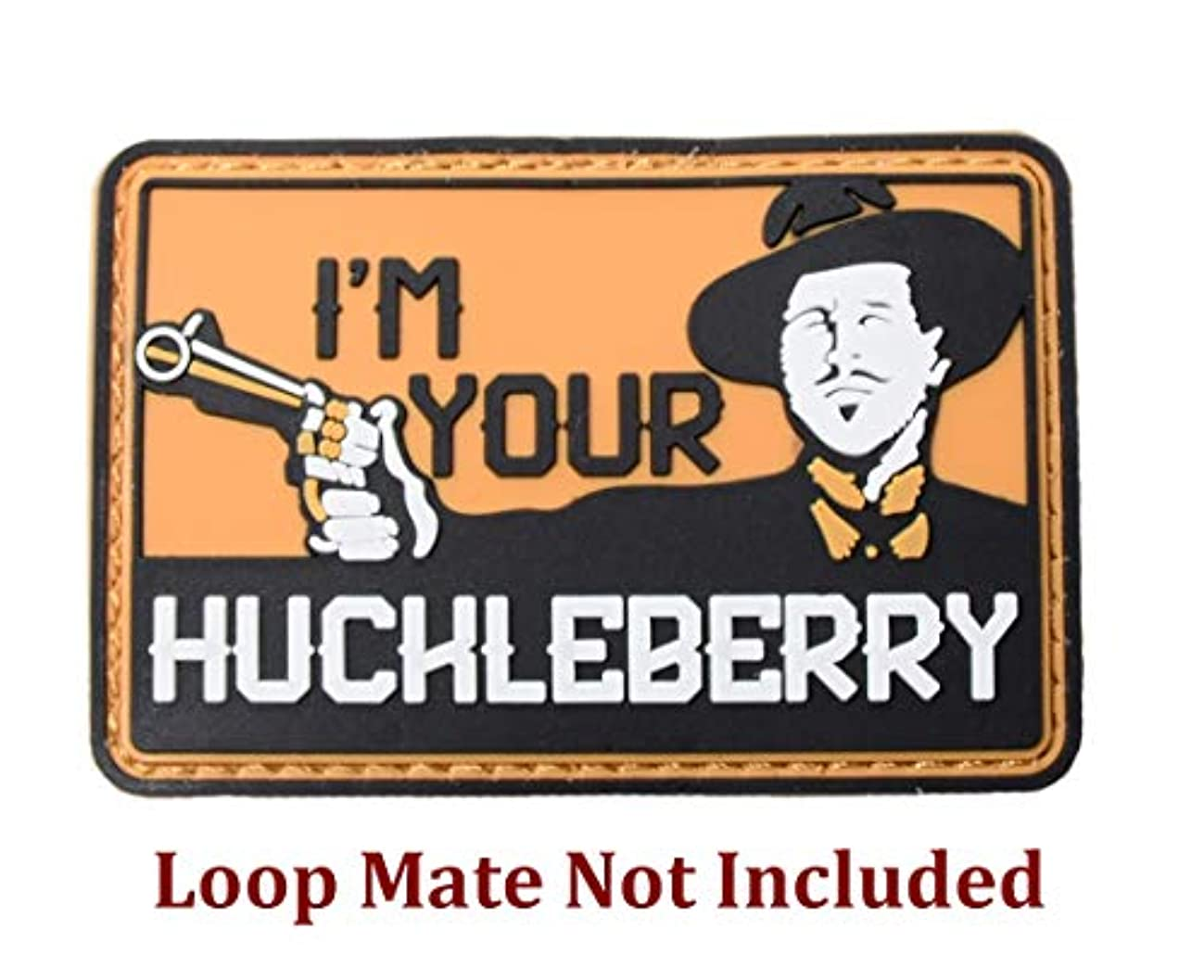 I'm Your Huchleberry Funny Tactical Morale Patch 3D PVC Rubber Badge with Hook Fastener
