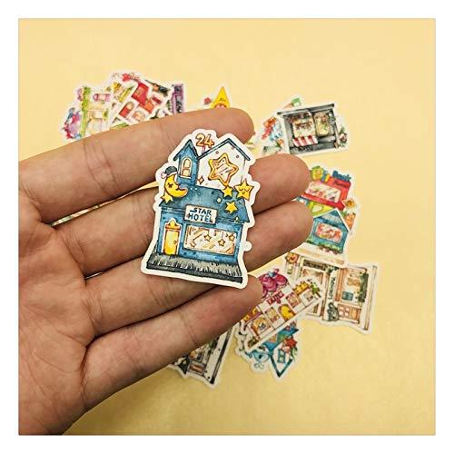 LUCHAO Pegatinas 33pcs / Pack Vintage Sweet Honey Hotel Inn Pegatina DIY Craft Scrapbooking Album Junk Journal Planner Pegatinas Decorativas