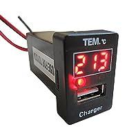 温度計+USB充電ポート増設キット 【トヨタA】 [LED:レッド] ac392