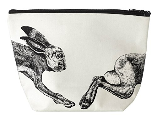 Algodón Parlane 'liebre' bolsa de viaje de tocador - en estilo - 20 x 29 cm