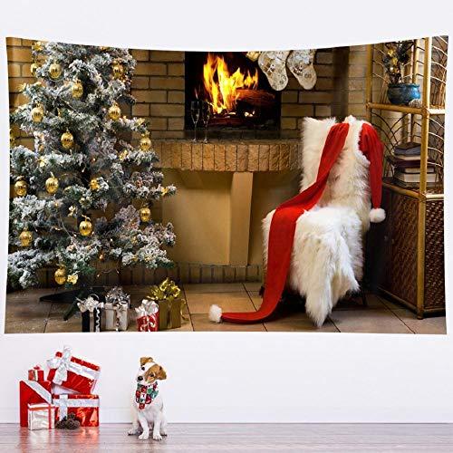 Tapices de árboles de Navidad tapices art deco para el hogar tapices de dormitorio de Navidad decorativos bohemios colchones 150cmX100cm