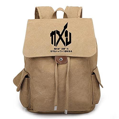 YXACETX Schule Rucksack Maskierte Fahrt Leinwand Casual Travel Daypacks Laptop Rucksäcke Männer Frauen Rucksack Bücherbags Geeignetes Wanderweg Geschenk V