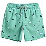 MaaMgic Homme Short de Bains Maillot de Bain avec Filet Style Tropical Voyage Pants...