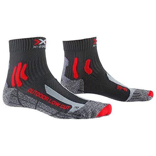 X-Socks Trek Outdoor Low Cut Calze da Trekking, Unisex - Adulto, Anthracite/Red, 42/44
