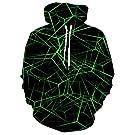Goodstoworld Unisex Cool 3D Print Fleece Liner Hoodies Upgrade Quality Pullover Sweatshirt with Front Pocket S-XXL