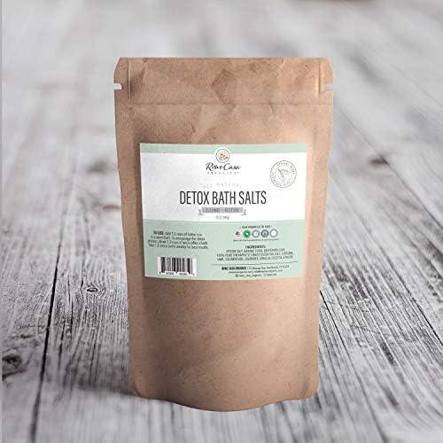 Rowe Casa Organics Detox Bath Salts Natural Detox Bath Soak for Body Cleanse product image