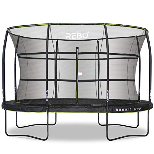 Rebo Summit Oval Trampoline and Safety Enclosure - 8ft x 12ft - Summit 1200