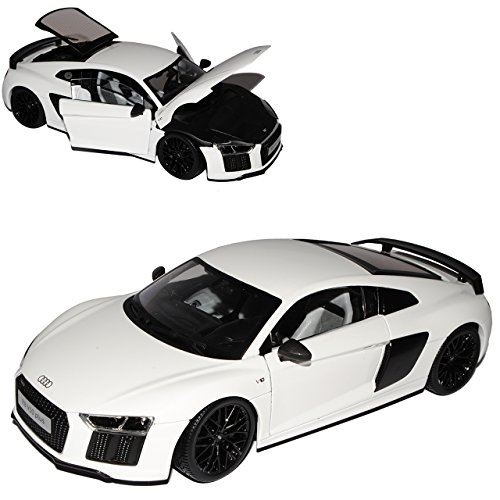 Maisto A-U-D-I R8 V10 Plus Coupe Weiss neuestes Modell 2. Generation ab 2015 1/18 Modell Auto