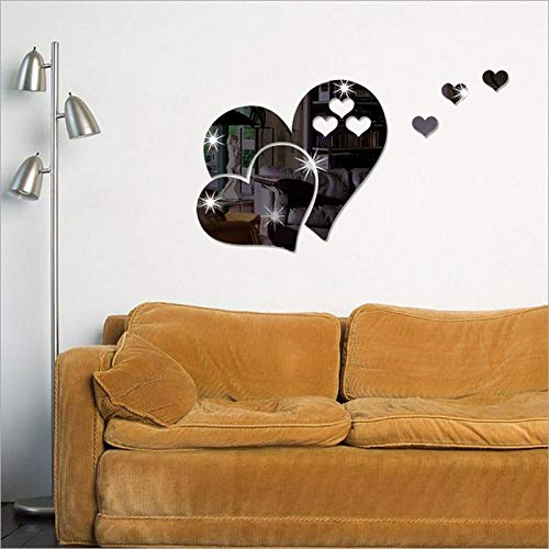 Wall Sticker Mirror Love Stickers Wall Stickers Creative Home Decoration Living Room Background Acrylic Decoration DIY 50 * 70cm