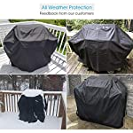 Unicook BBQ Cover, Waterproof Heavy Duty 2 Burner Barbecue Cover, Outdoor Small Gas BBQ Cover for Weber, Char-Broil…