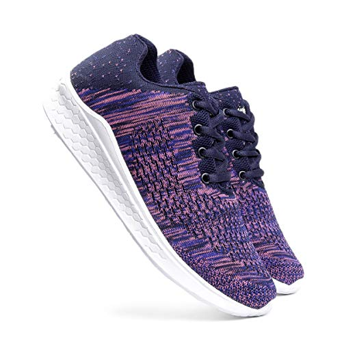 meriggiare® Women Fashion Sneakers Lightweight Sport Gym Jogging Casual Walking Air Cushion Athletic Tennis Running Sports Shoes-Purple