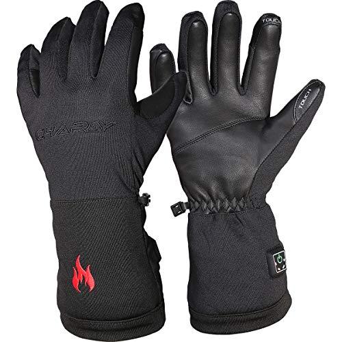 CHARLY Best of Air Polarheat Light, Herren/Damen beheizbare Handschuhe, Li-Ion-Akkus, Größe L