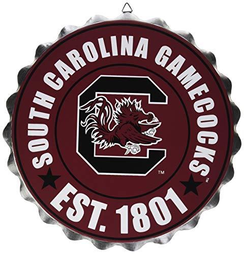 FOCO NCAA Bottle Cap Wall Sign, South Carolina Gamecocks