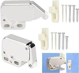 FIGFYOU 2 st minispärr automatisk fjäderfångst, tryckspärr lås tryckspärr öppen tryckspärr spärr lås med automatisk fjäder...