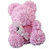 F Fityle Fleur d'oursFleur de Mariage Artificielle Grande Taille Décoration Noël Fête Cérémonie Soirée 28 x 24 x 38cm - Rose Clair