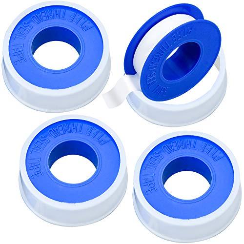 Demason 4 Rollos de Cinta PTFE, Cinta Griferia, Cinta Selladora, Selladoras para Sellar Accesorios de Grifería, Selladora de Tubería para Plomería, 1,2 * 100cm, Espesor de 0,075mm, Color Azul