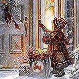 DIY 5D pintura de diamante, punto de cruz, diamantes de imitación completos, manualidades, decoración de la pared del hogar, regalos de Navidad, Niña de la Nieve de 40 x 40 cm