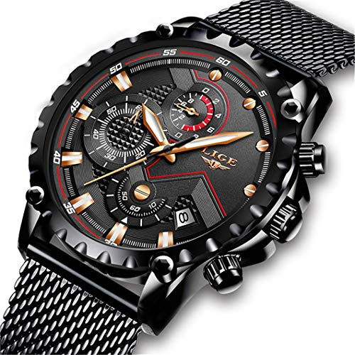 Reloj de Pulsera para Hombre de LIGE, con cronógrafo, analógico, de