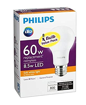 Philips 60 Watt Equivalent A19 LED Light Bulb