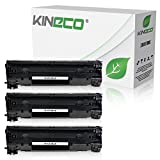3 Kineco Toner kompatibel zu HP CF283X Laserjet Pro M125nw, M125rnw, Laserjet Pro M127fw, Laserjet Pro M127FN, MFP M225DW DN, Laserjet 128, 120 Series - 83A - Schwarz je 2.200 Seiten