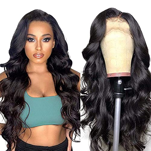 Body Wave Human Hair Lace Front Wigs for Black Women Human Hair glueless Lace Front Wigs Human Hair pre plucked with Baby Hair