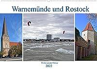 Warnemuende und Rostock, Perlen an der Ostsee (Wandkalender 2022 DIN A2 quer): Bilder von einem wunderschoenen Seebad und einer traditionsreichen Hansestadt (Monatskalender, 14 Seiten )
