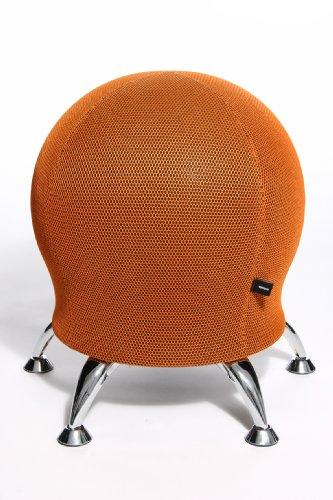 Topstar Wellnessstuhl/Sitzball/Hocker SITNESS 5 Stoff orange Chrom