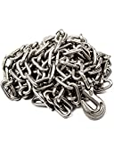 Binder Chain with Clevis Grab Hooks - 5/16' x 14' G40 Tow Chain Binder Transport Chains with Grab Hooks Tie Down Chain Truck Trailer Chain (5/16' x 14')