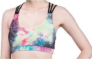 ZYDP Women Sport Bra Yoga Tank Crop Top Workout Racerback Removable Pad Bra (Color : Color, Size : M)