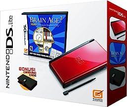 Nintendo DS Lite Crimson & Black with Brain Age 2