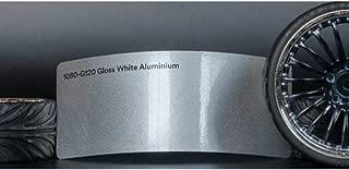 3M 1080 Gloss White Aluminum | G120 | Vinyl CAR WRAP Film (Sample 2.5in x 4in)