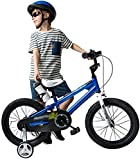 Bicicletas Bicicletas para niños, Bicicleta para niños Rueda de balance auxiliar de 12 'Niño Bicicleta Chica Bicicleta Aprendizaje 14' Amortiguador Bicicleta de montaña (Color: Azul, Tamaño: 12inches)