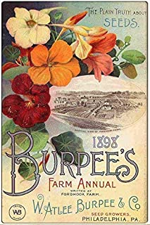 8besteffie& Iron Painting 8X12 INCH 1898 Burpee&rsquo and Company Seed Co. Vintage Advertising Metal Wall Plaque Aluminum Tin Sign