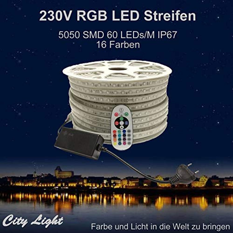 precios razonables Tira de Luces Luces Luces LED RGB (230 V, 5050 SMD, 60 ledes M IP67, con Mando a Distancia de 24 Teclas), 05 Meter, RadioFrequency(RF)-Controller  comprar mejor