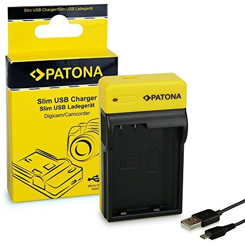 PATONA Slim Ladegerät für EN-EL15 Akkus kompatibel mit Nikon 1 V1 D600 D610 D7000 D8000