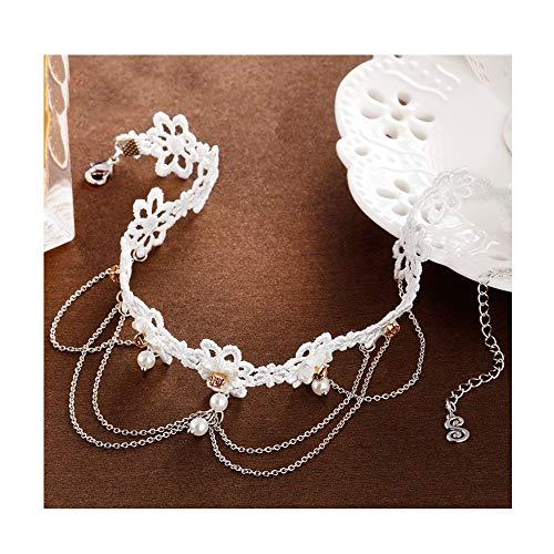 Broschen TAO Europäischen und amerikanischen Halskette Frauen Kragen Spitze Futter Haut Schlüsselbein Kette Umhängeband