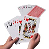 Super Z Outlet Giant Jumbo Deck of Big Playing Cards Fun Full Poker Game Set - Measures 5' x 7'