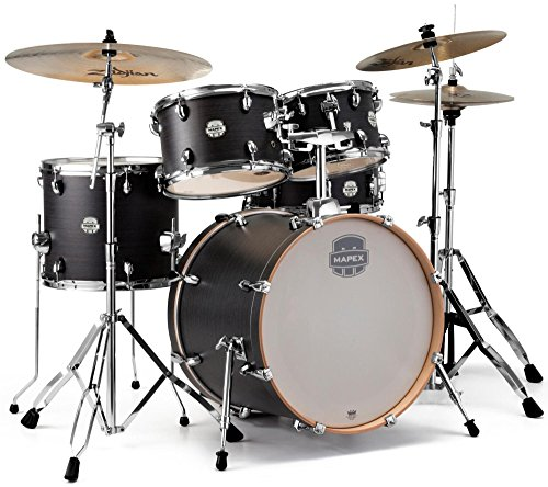 MAPEX ST5045FIK Storm 5-Piece Fusion Drum Kit with Chrome Hardware - Ebony Blue