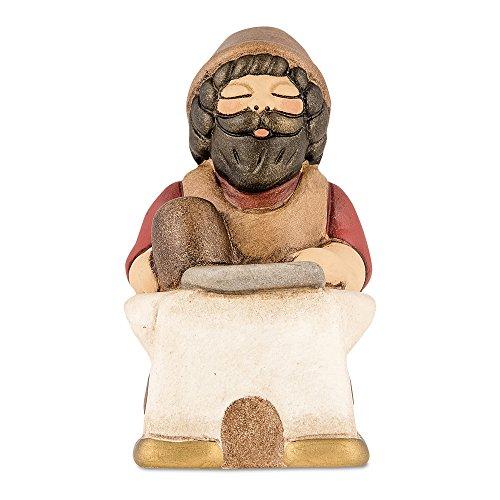 THUN - Statuina Presepe Maniscalco - Decorazioni Natale Casa - Linea Presepe Classico, Variante Rossa - Ceramica - 8 h cm