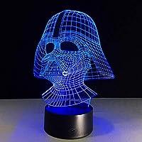 3D LED錯視ランプ ギフトテーブルナイトライトBB8ノベルティライトを照明する戦争テーブルナイトライト7カラフルな子供たち