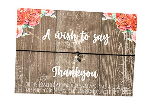 Wish Bracelet Floral wood style - A wish to say Thank you DD2147