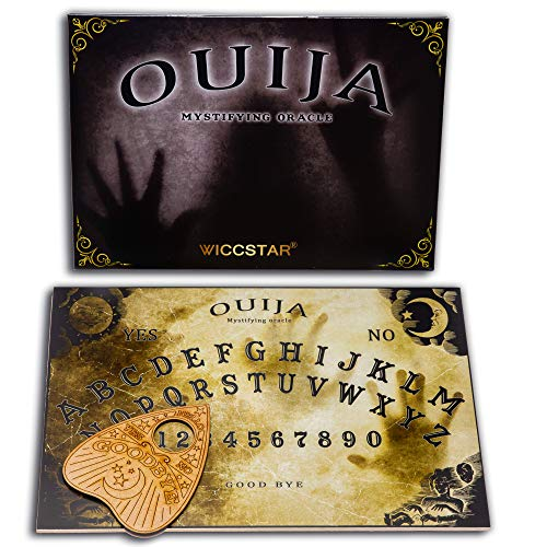 WICCSTAR Ouija Board Game for Spirit Hunt. Small Size. with Planchette and Detailed Instruction