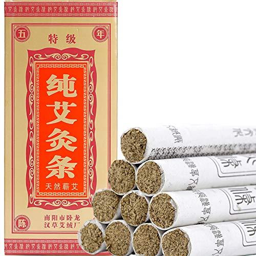 Moxa Sticks Pure Handmade Rolls Mugwort Moxibustion Artemisia Wormwood Natural Herbal Chinese Medicine?10 per Box?